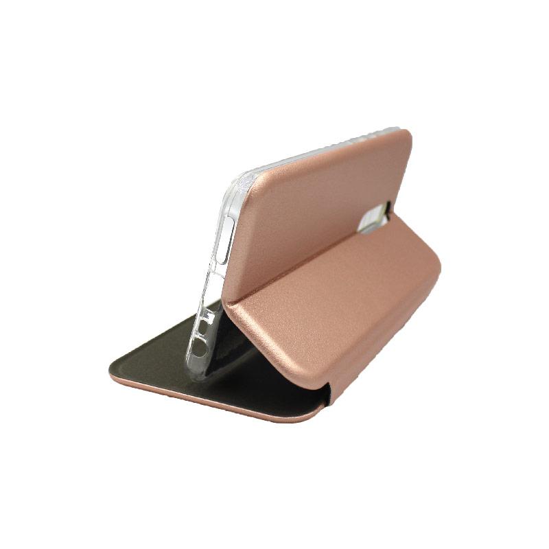 Θήκη Xiaomi Redmi 8 Πορτοφόλι με Μαγνητικό Κλείσιμο ροζ χρυσό 4