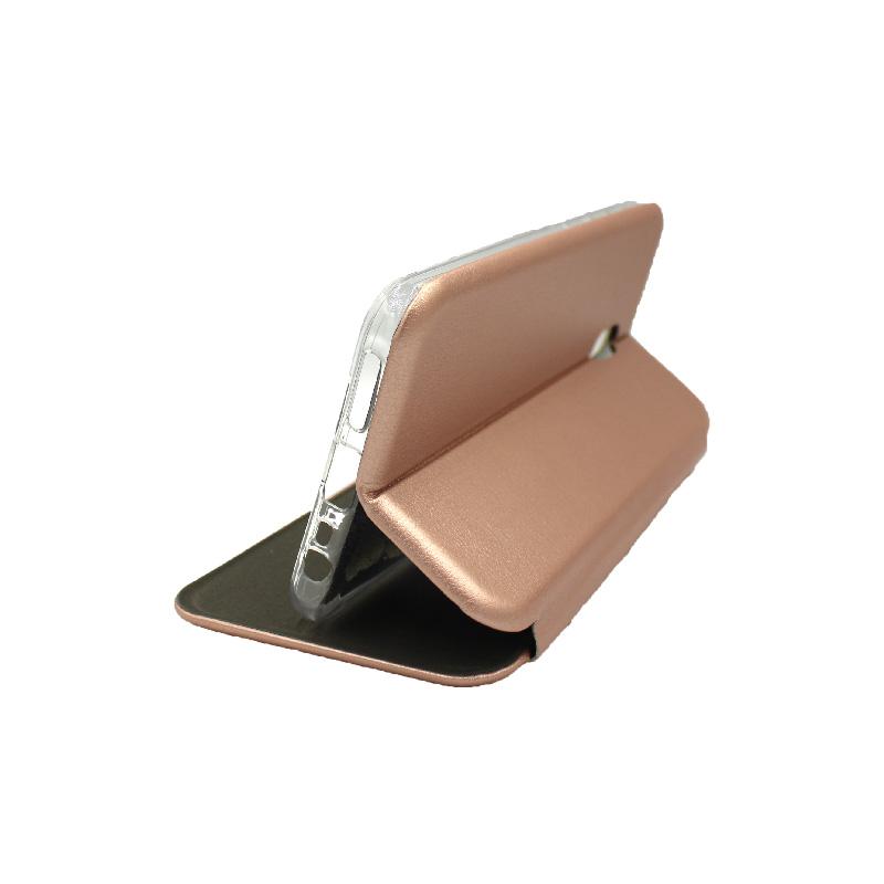 Θήκη Xiaomi Redmi 8A Πορτοφόλι με Μαγνητικό Κλείσιμο ροζ χρυσό 4