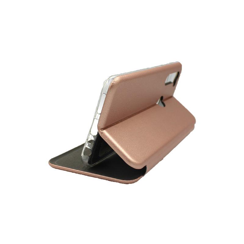 Θήκη Xiaomi Redmi Note 8T Πορτοφόλι με Μαγνητικό Κλείσιμο ροζ χρυσό 4