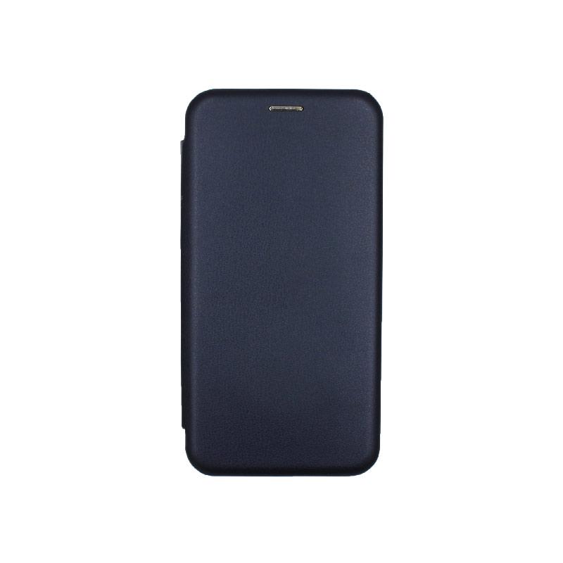 Θήκη Huawei Mate 20 Πορτοφόλι με Μαγνητικό Κλείσιμο σκούρο μπλε 1