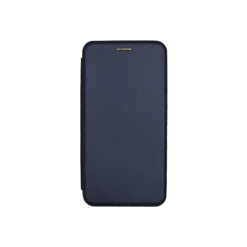Θήκη Huawei P30 Lite Πορτοφόλι με Μαγνητικό Κλείσιμο σκούρο μπλε 1