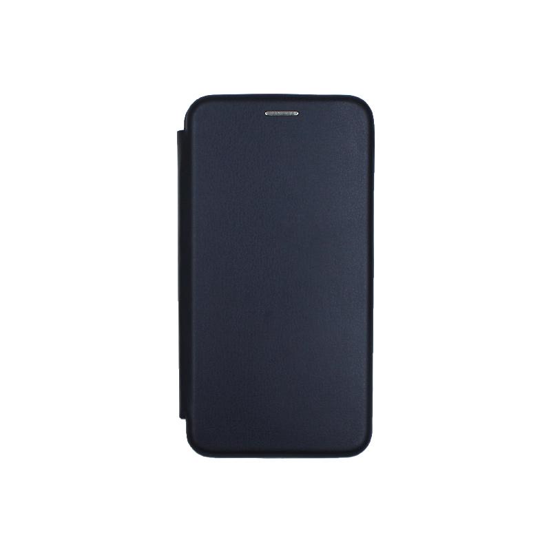 Θήκη Huawei P9 Lite Πορτοφόλι με Μαγνητικό Κλείσιμο σκούρο μπλε 1