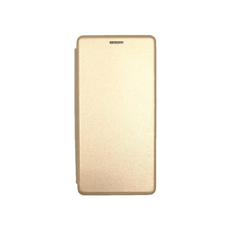 Θήκη Samsung Galaxy S20 Ultra Πορτοφόλι με Μαγνητικό Κλείσιμο χρυσό 1