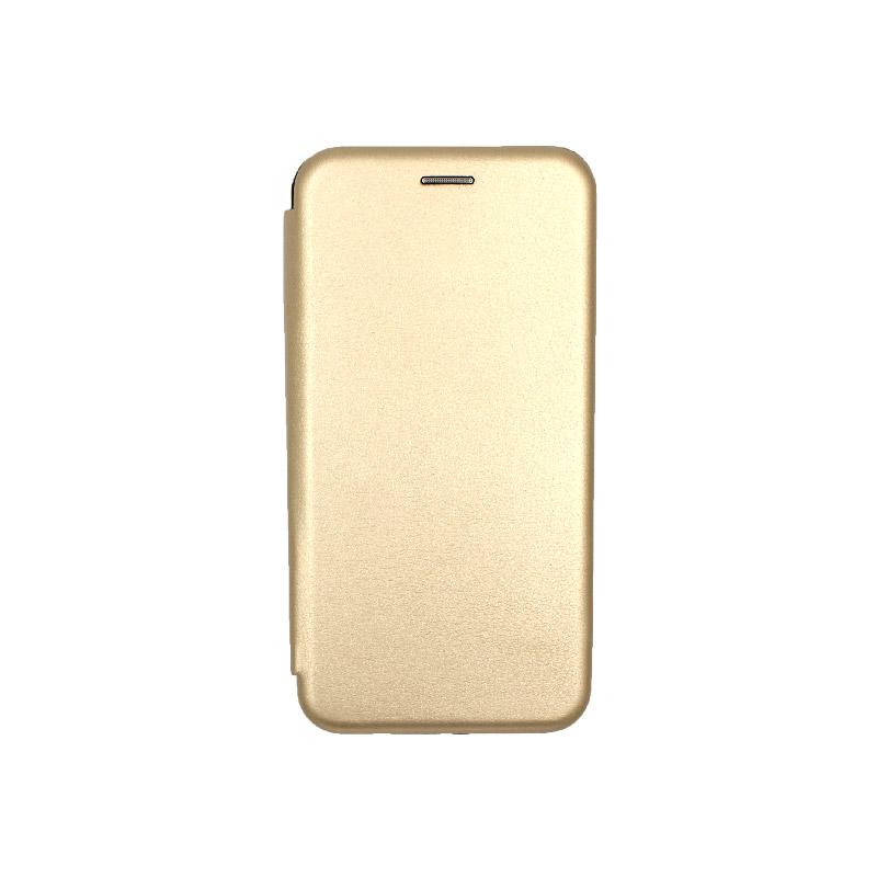 Θήκη Huawei P Smart Plus Πορτοφόλι με Μαγνητικό Κλείσιμο χρυσό 1