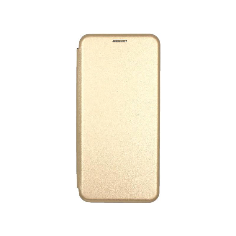 Θήκη Samsung Galaxy S20 Plus Πορτοφόλι με Μαγνητικό Κλείσιμο χρυσό 1