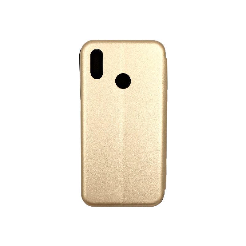 Θήκη Huawei P Smart Plus Πορτοφόλι με Μαγνητικό Κλείσιμο χρυσό 2