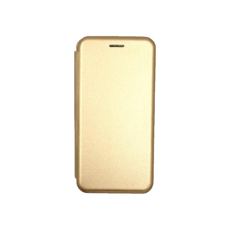 Θήκη Samsung Galaxy S20 Πορτοφόλι με Μαγνητικό Κλείσιμο χρυσό 1