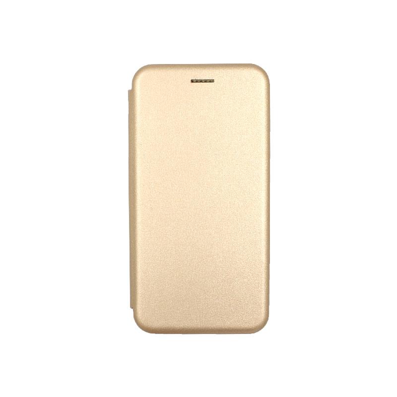 θήκη Xiaomi Mi 8 Lite πορτοφόλι με μαγνήτη χρυσο 1