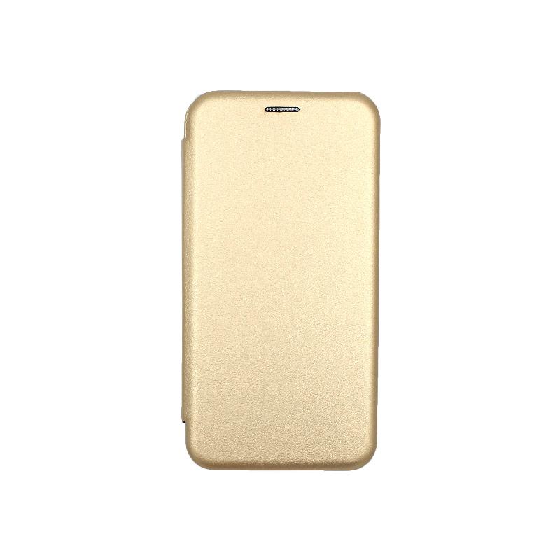 Θήκη Huawei Mate 30 Lite Πορτοφόλι με Μαγνητικό Κλείσιμο χρυσό 1
