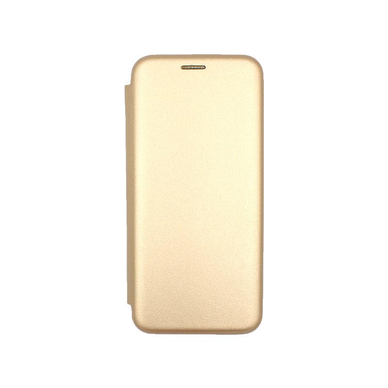 Θήκη Xiaomi Redmi Note 7 / 7 Pro Πορτοφόλι με Μαγνητικό Κλείσιμο χρυσό 1