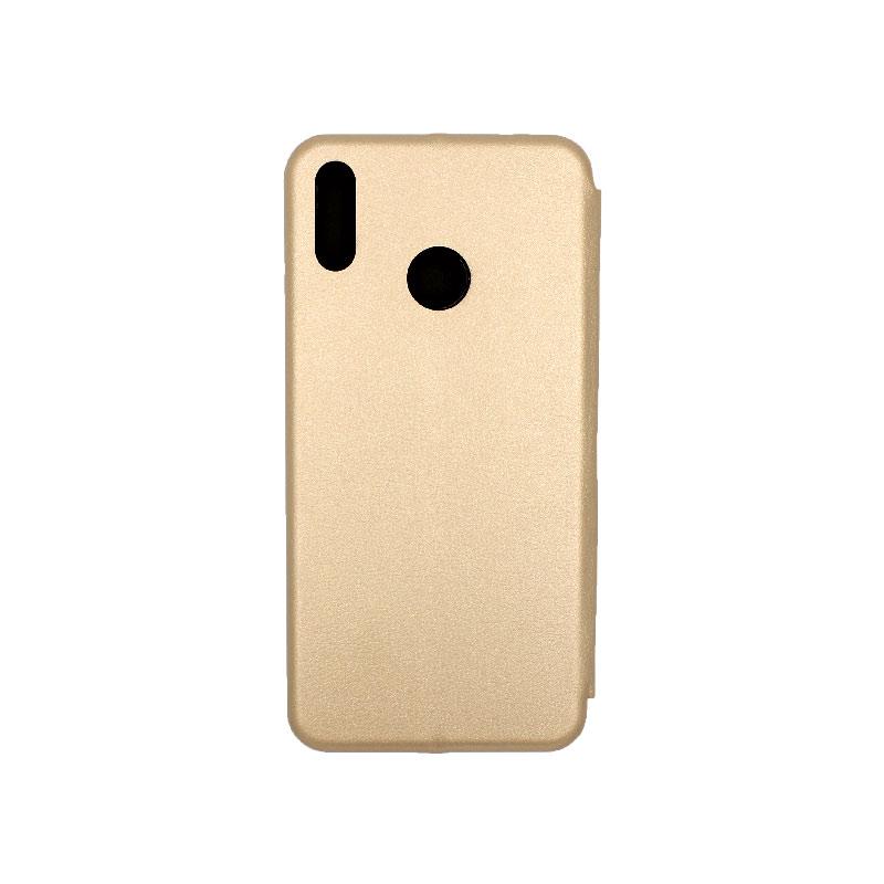 Θήκη Huawei Y9 2019 Πορτοφόλι με Μαγνητικό Κλείσιμο χρυσό 2
