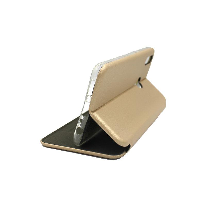 Θήκη Huawei Y9 2019 Πορτοφόλι με Μαγνητικό Κλείσιμο χρυσό 4