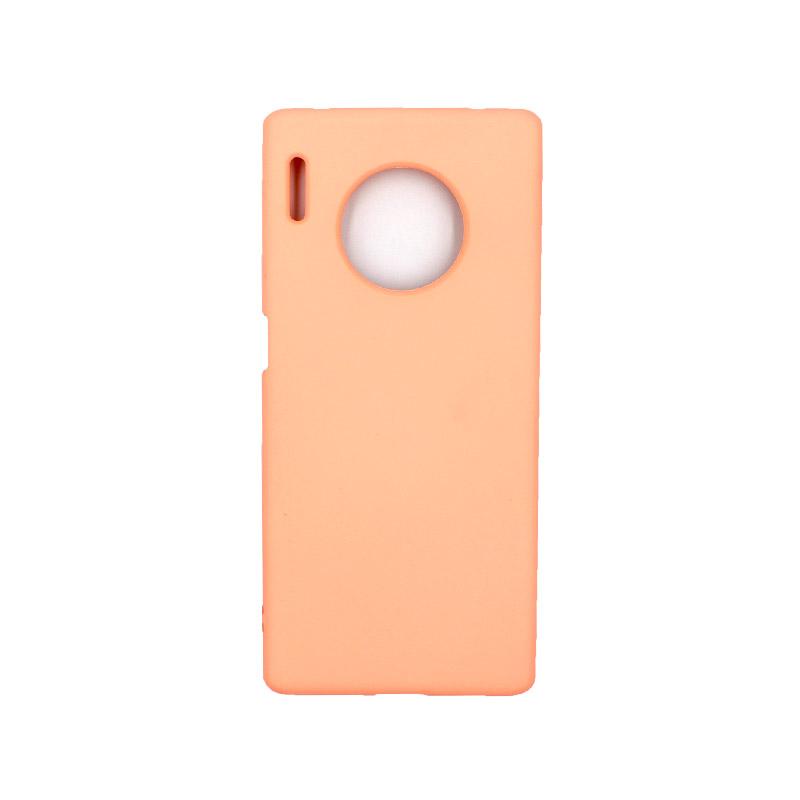 Θήκη Huawei Mate 30 Pro Silky and Soft Touch Silicone πορτοκαλί 1