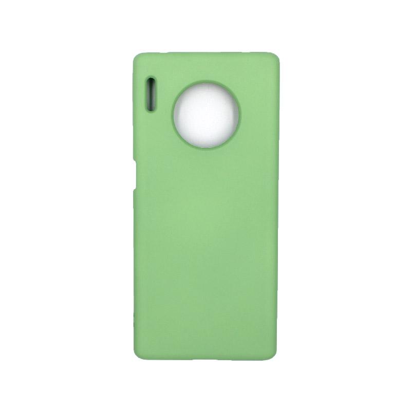 Θήκη Huawei Mate 30 Pro Silky and Soft Touch Silicone πράσινο 1