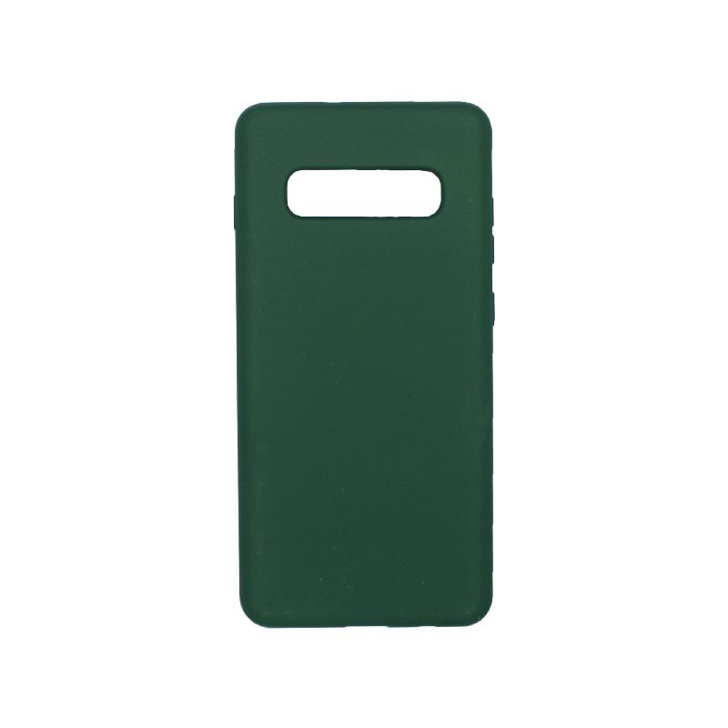 Θήκη Samsung Galaxy S10 Plus Silky and Soft Touch Silicone πράσινο 1