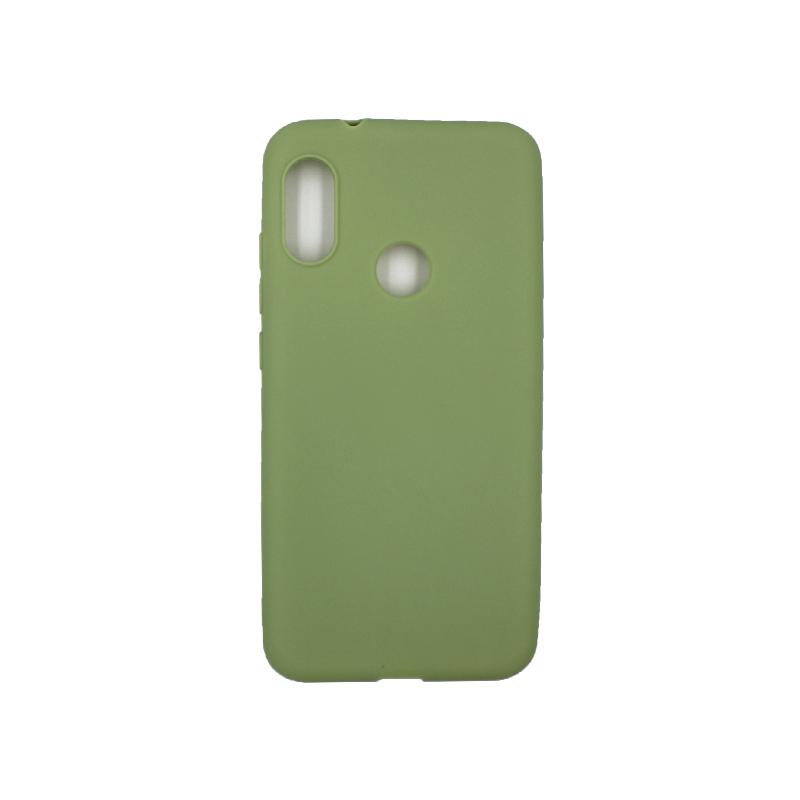 Θήκη Xiaomi Redmi Note 6 Pro Σιλικόνη πράσινο