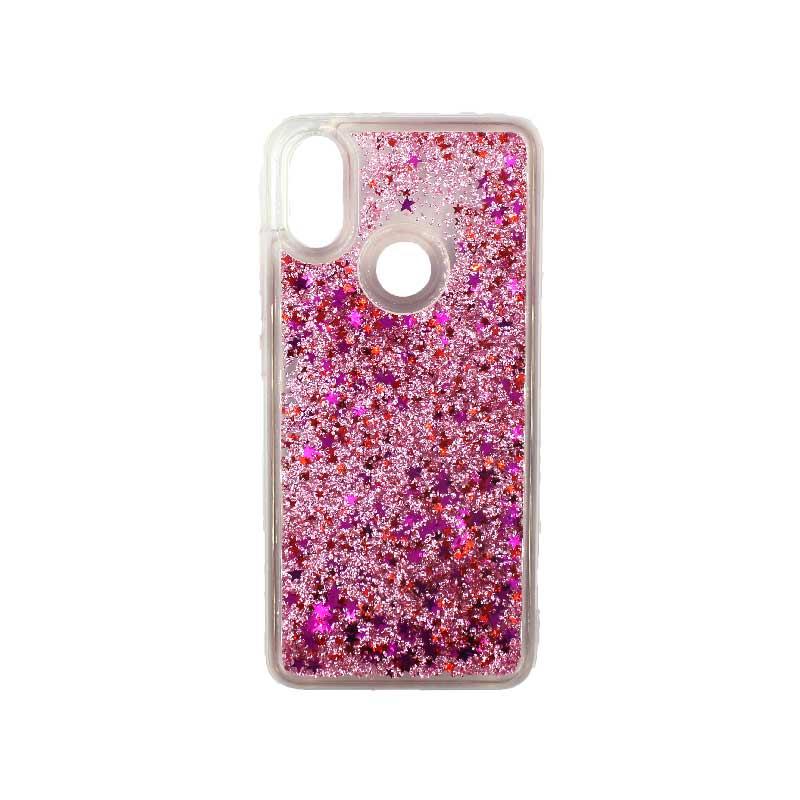 Θήκη Xiaomi Redmi Note 5 / 5 Pro Plus Liquid Glitter ροζ 1