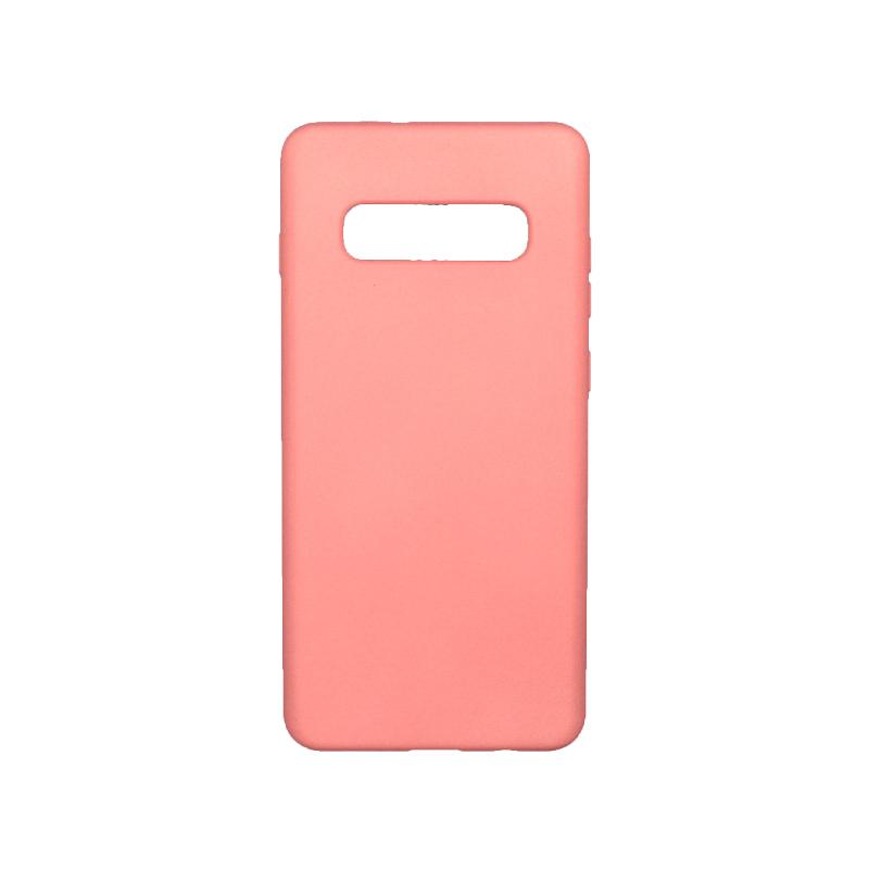 Θήκη Samsung Galaxy S10 Plus Silky and Soft Touch Silicone ροζ 1