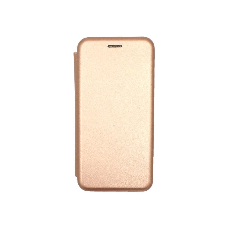 Θήκη Huawei P40 Πορτοφόλι με Μαγνητικό Κλείσιμο ροζ χρυσό 1