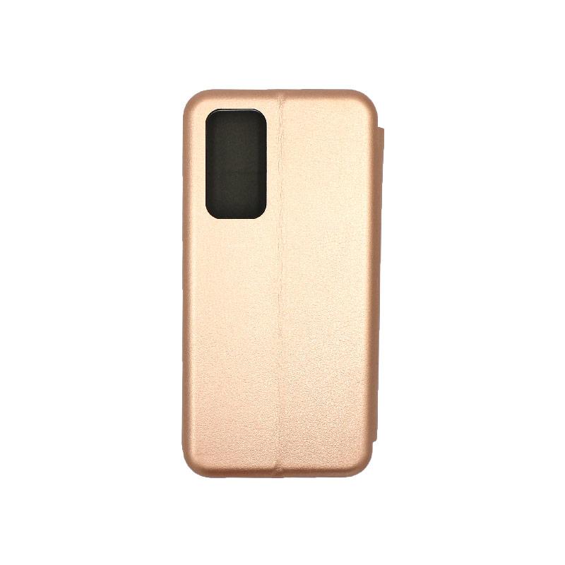 Θήκη Huawei P40 Πορτοφόλι με Μαγνητικό Κλείσιμο ροζ χρυσό 2