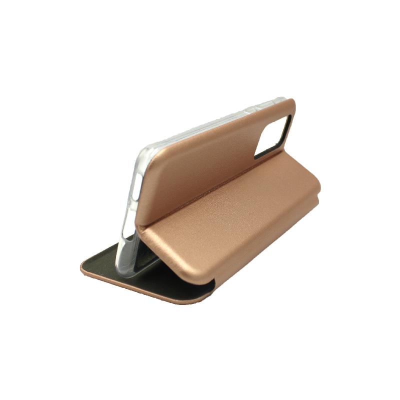 Θήκη Huawei P40 Πορτοφόλι με Μαγνητικό Κλείσιμο ροζ χρυσό 4