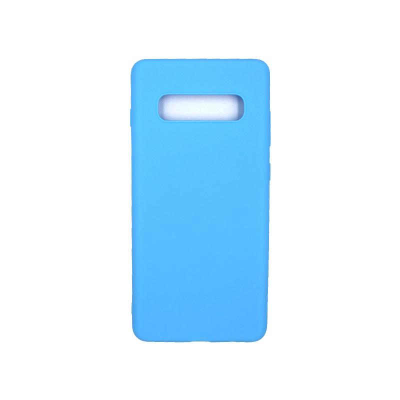 Θήκη Samsung Galaxy S10 Plus Σιλικόνη γαλάζιο