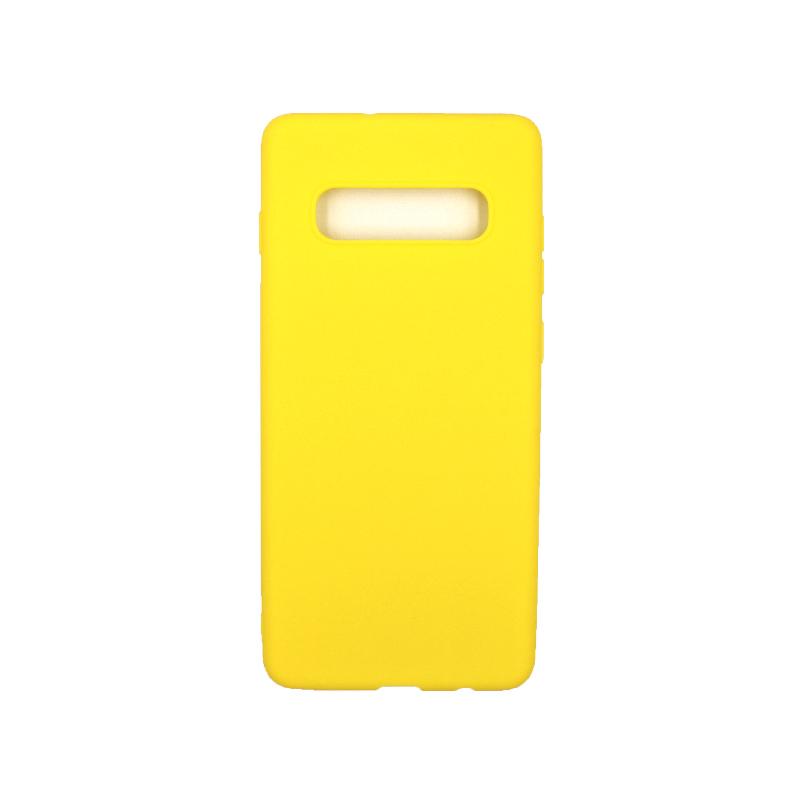 Θήκη Samsung Galaxy S10 Plus Σιλικόνη κίτρινο