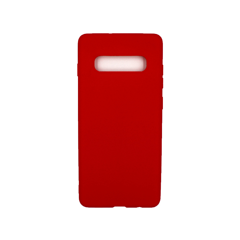 Θήκη Samsung Galaxy S10 Plus Σιλικόνη κόκκινο