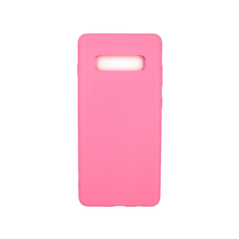 Θήκη Samsung Galaxy S10 Plus Σιλικόνη ροζ