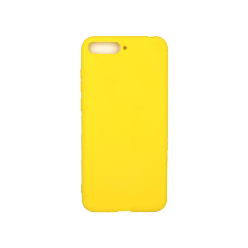 Θήκη Huawei Y6 2018 Σιλικόνη κίτρινο