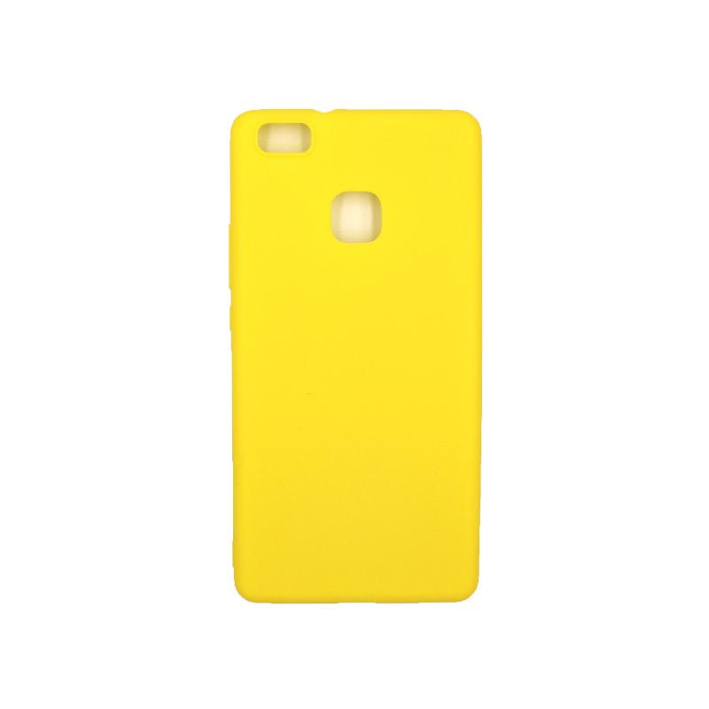 Θήκη Huawei P9 Lite Σιλικόνη κίτρινο