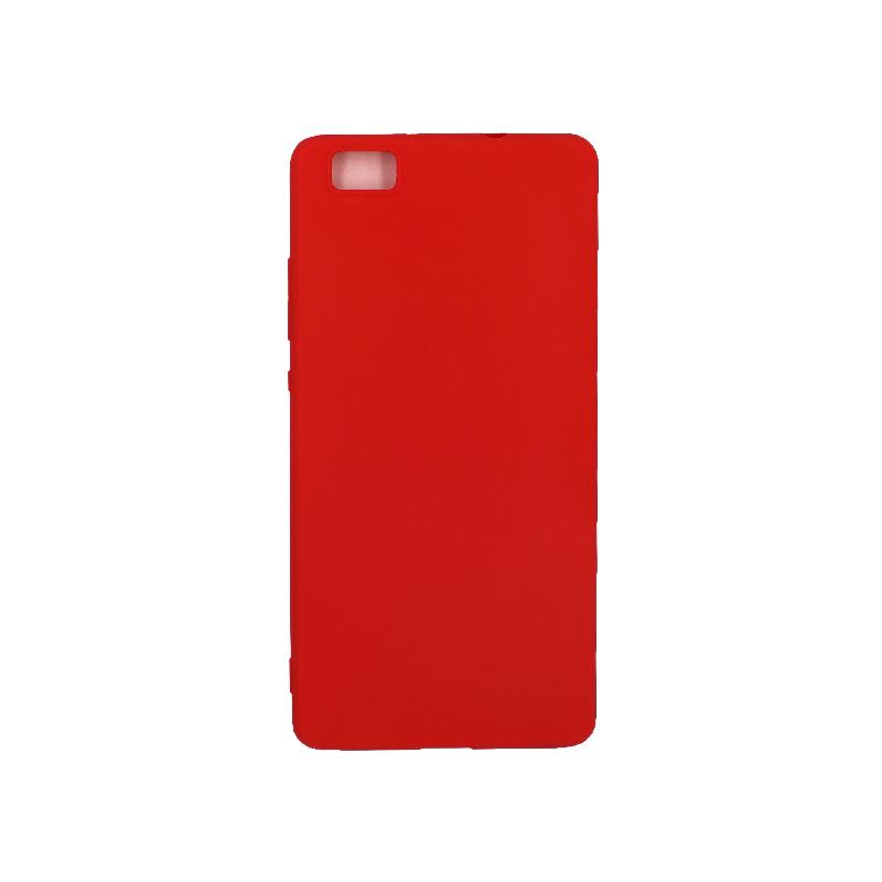 Θήκη Huawei P8 Lite Σιλικόνη κόκκινο