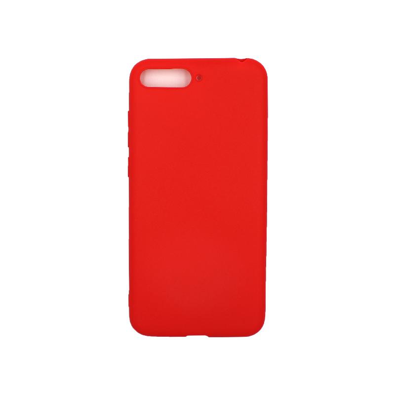 Θήκη Huawei Y6 2018 Σιλικόνη κόκκινοΘήκη Huawei Y6 2018 Σιλικόνη κόκκινο