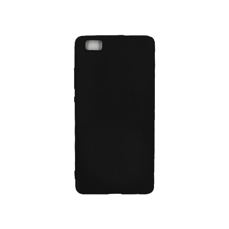 Θήκη Huawei P8 Lite Σιλικόνη μαύρο