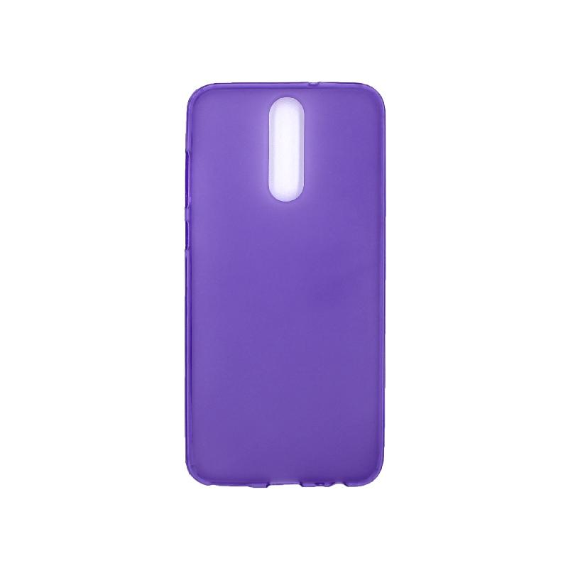 Θήκη Huawei Mate 10 Lite Σιλικόνη μωβ