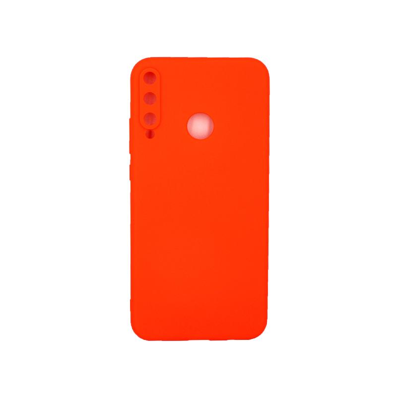 Θήκη Huawei P40 Lite E Σιλικόνη πορτοκαλί
