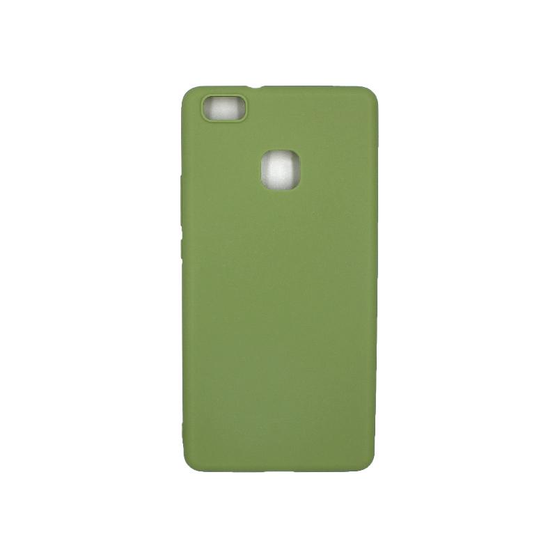 Θήκη Huawei P9 Lite Σιλικόνη πράσινο