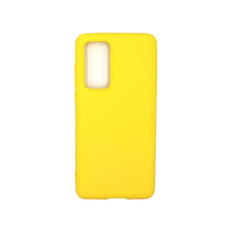 Θήκη Huawei P40 Σιλικόνη κίτρινο