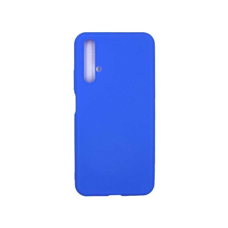 Θήκη Honor 20 / Huawei Nova 5T Σιλικόνη (Double Hole) μπλε