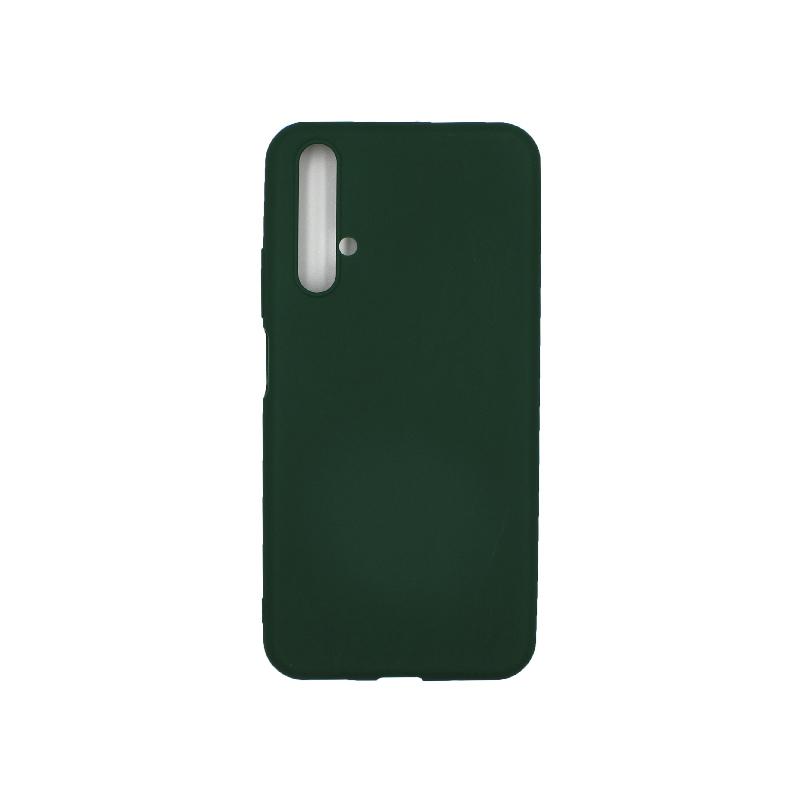 Θήκη Honor 20 / Huawei Nova 5T σιλικόνη (Double Hole) πράσινο