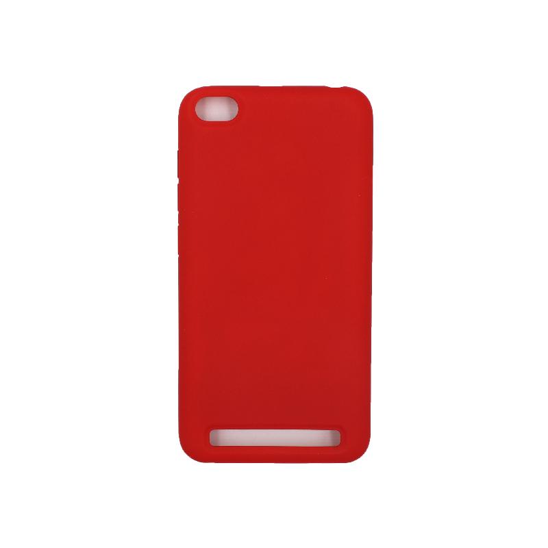 Θήκη Xiaomi Redmi 5A Silky and Soft Touch Silicone κόκκινο 1
