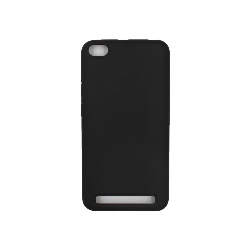 Θήκη Xiaomi Redmi 5A Silky and Soft Touch Silicone μαύρο 1