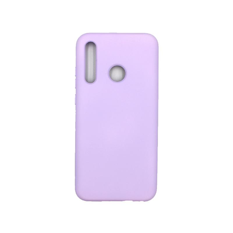 Θήκη Honor 20 Lite Silky and Soft Touch Silicone μωβ 1