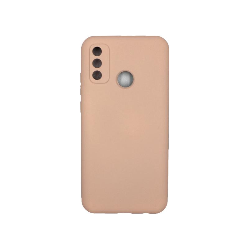 Θήκη Huawei P Smart 2020 Silky and Soft Touch Silicone μπεζ 1