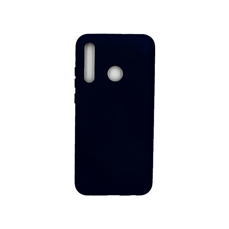 Θήκη Honor 20 Lite Silky and Soft Touch Silicone σκούρο μπλε 1