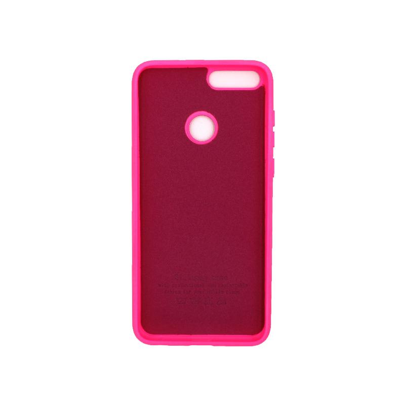 Θήκη Huawei P Smart Silky and Soft Touch Silicone φούξια 2
