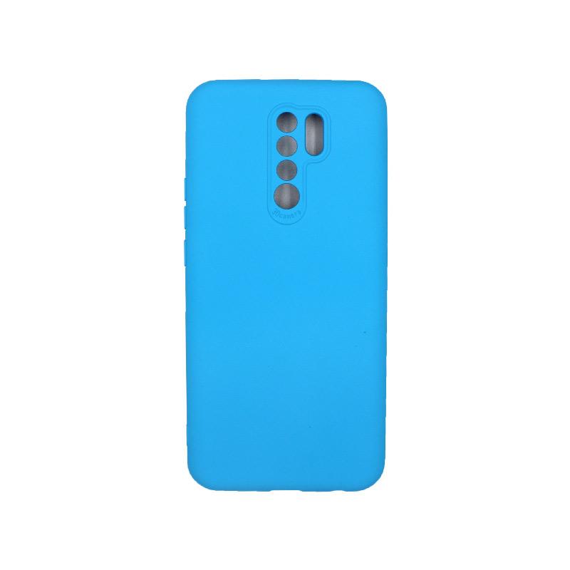 Θήκη Xiaomi Redmi 9 Silky and Soft Touch Silicone γαλάζιο 1