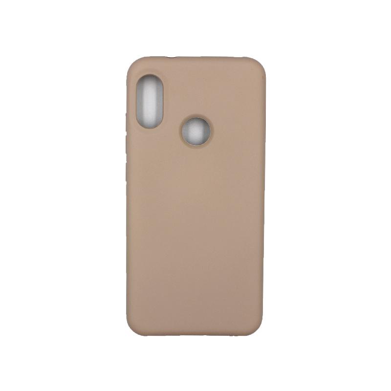 Θήκη Xiaomi A2 Lite Redmi 6X / A2 / Redmi 6 Pro Silky and Soft Touch Silicone καφέ 1