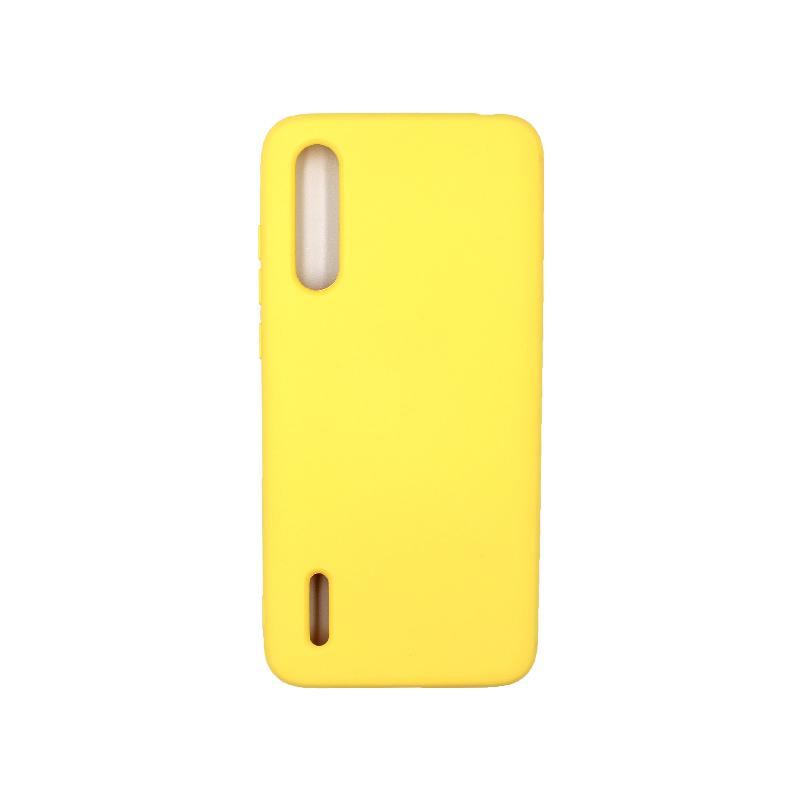 Θήκη Xiaomi Mi 9 Lite / CC9 / A3 Lite Silky and Soft Touch Silicone κίτρινο 1