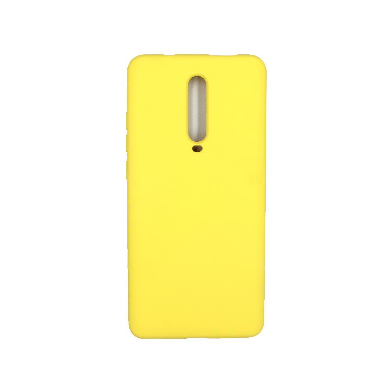 Θήκη Xiaomi Mi 9T / K20 / K20 Pro 9 Silky and Soft Touch Silicone κίτρινο 1